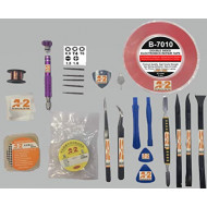 22 in 1 Professional Repair Toolkit Screwdriver Set for Various Smartphones Tablets incl 2mm Adhesive Tape, Solder Paste, Separator Wire